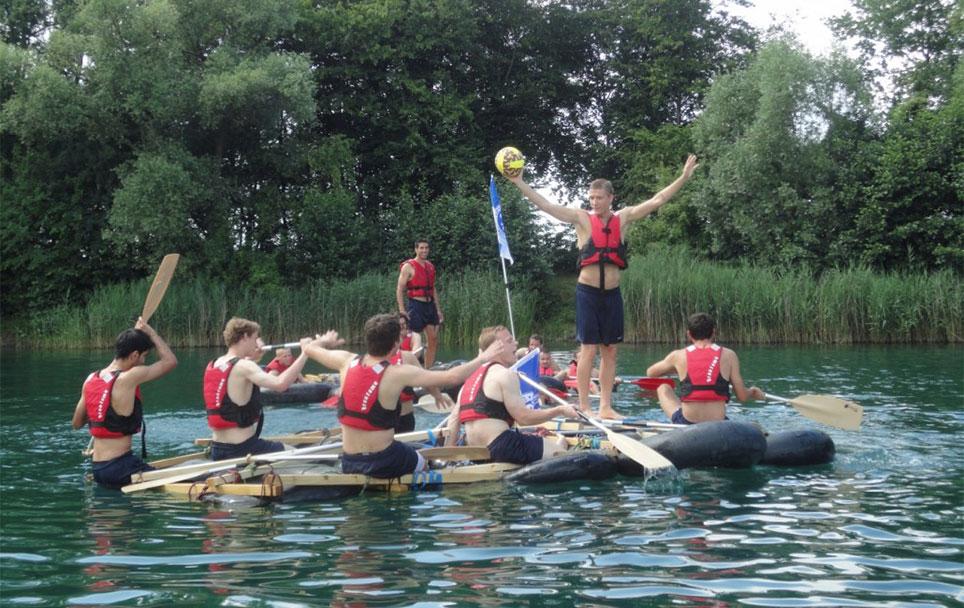 Teamtraining Floßbau mit SV Darmstadt Blogbeitrag