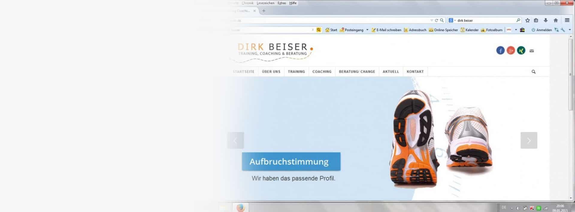 Die neue Webseite von Dirk Beiser ist online Blogbeitrag