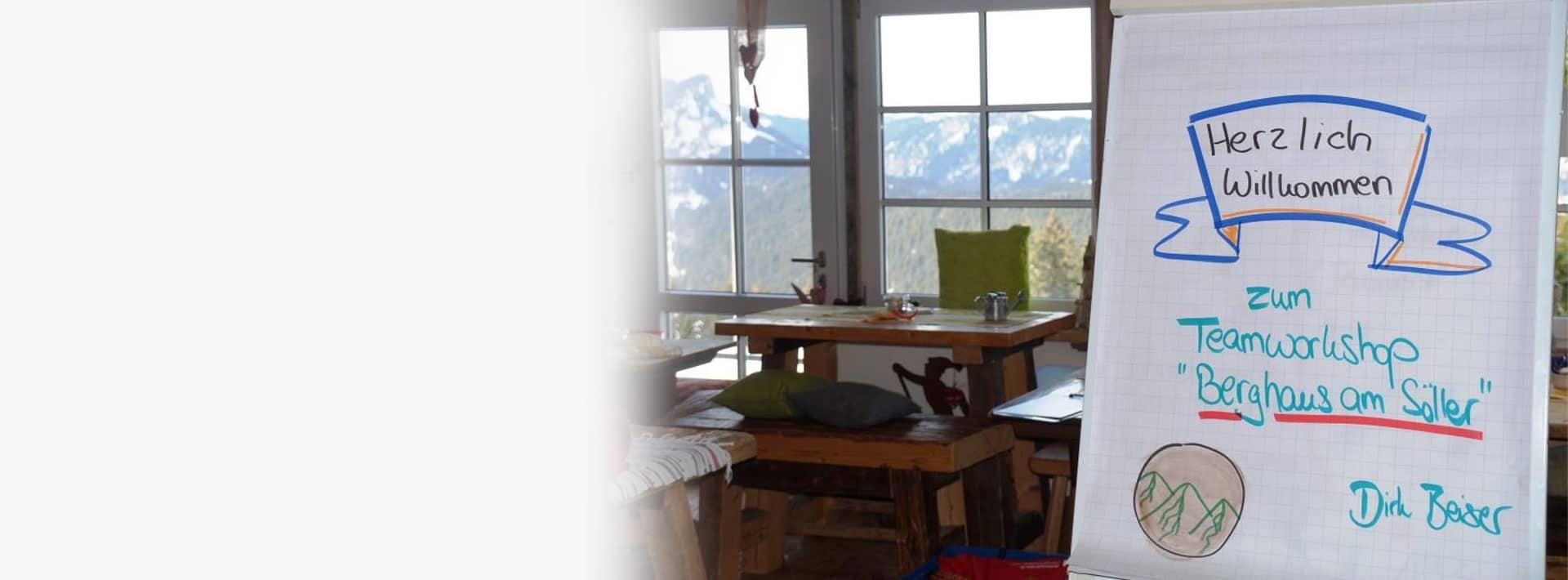 Teamworkshop im Berghaus Blogbeitrag