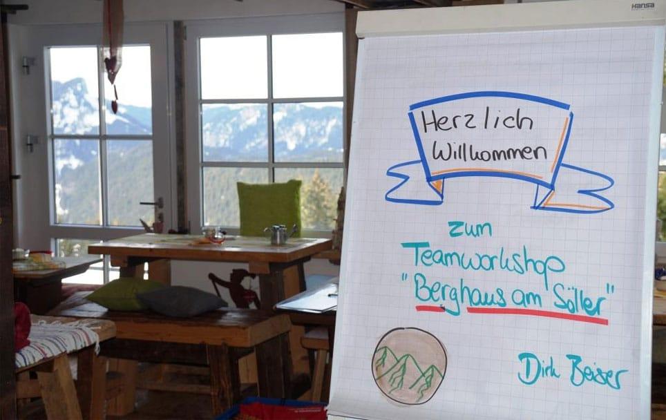 Teamworkshop im Berghaus Blogbeitragsbild