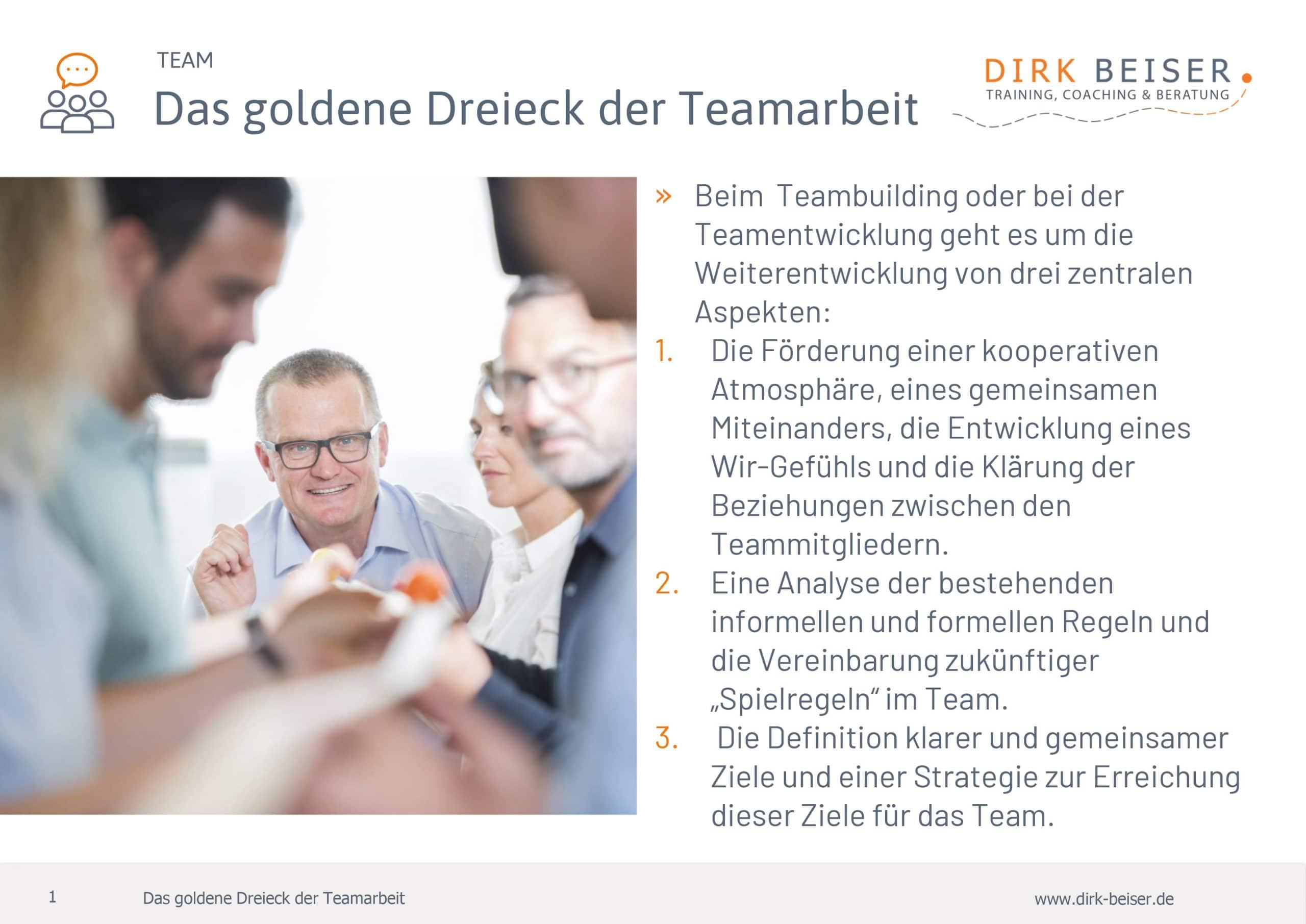 Das Goldene Dreieck der Teamarbeit