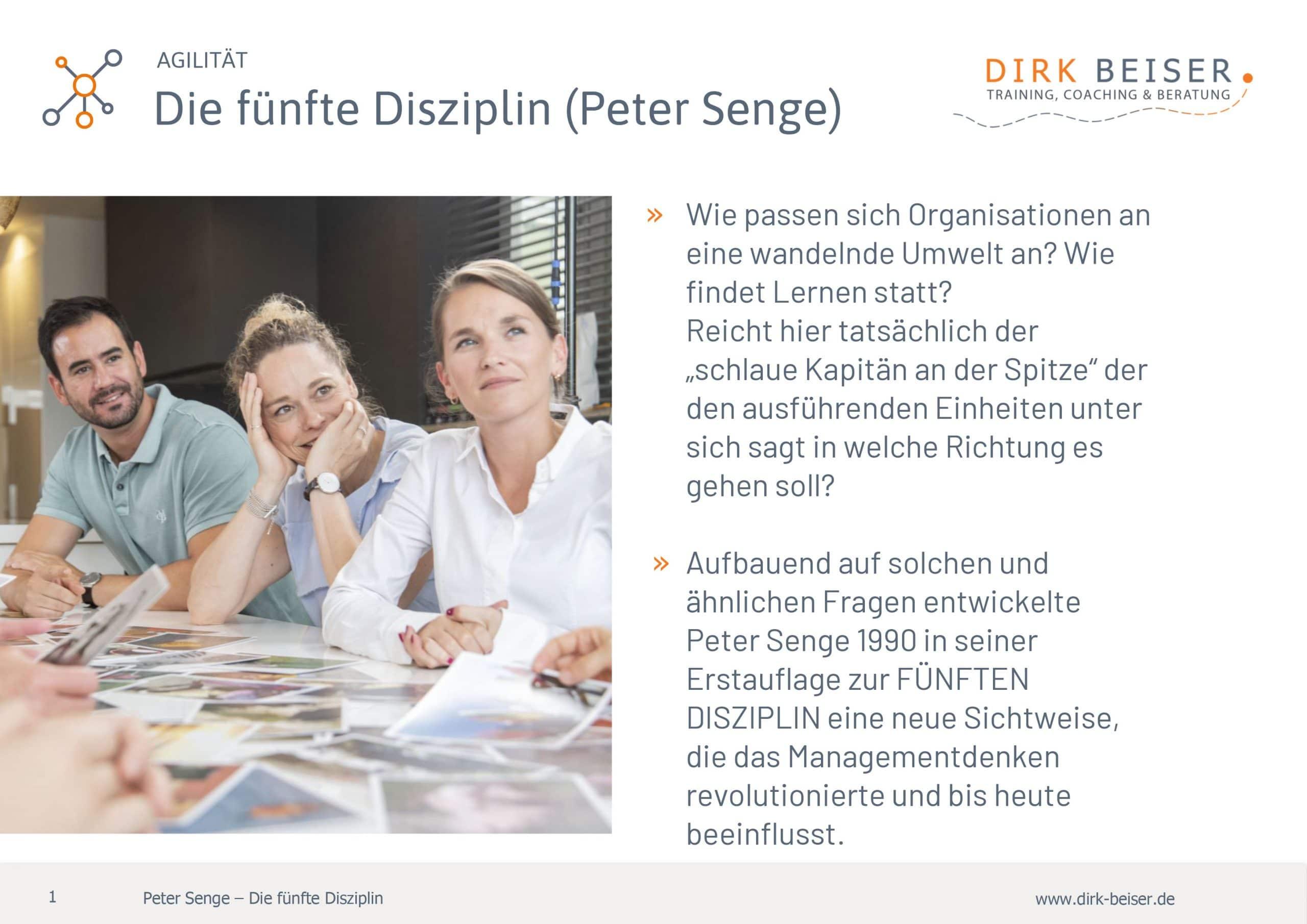 Die Fünfte Disziplin Agilität Peter Senge