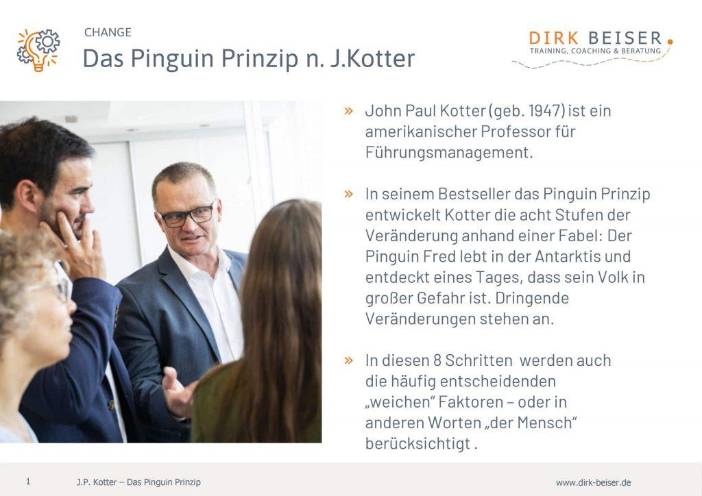 Das Pinguin Prinzip Kotter Für Veränderung Change