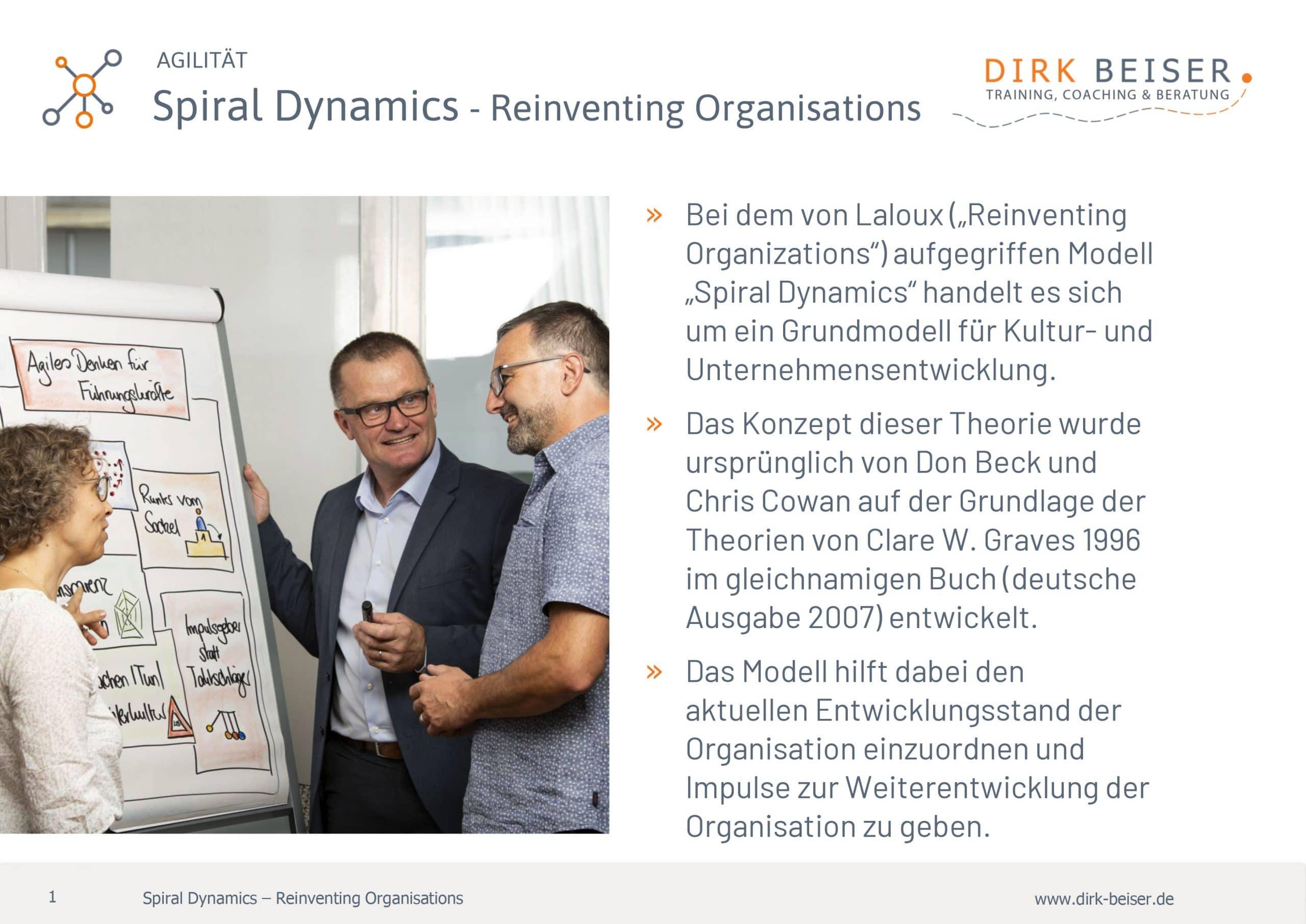 Spiral Dynamics Reinventing Organisation Agilität