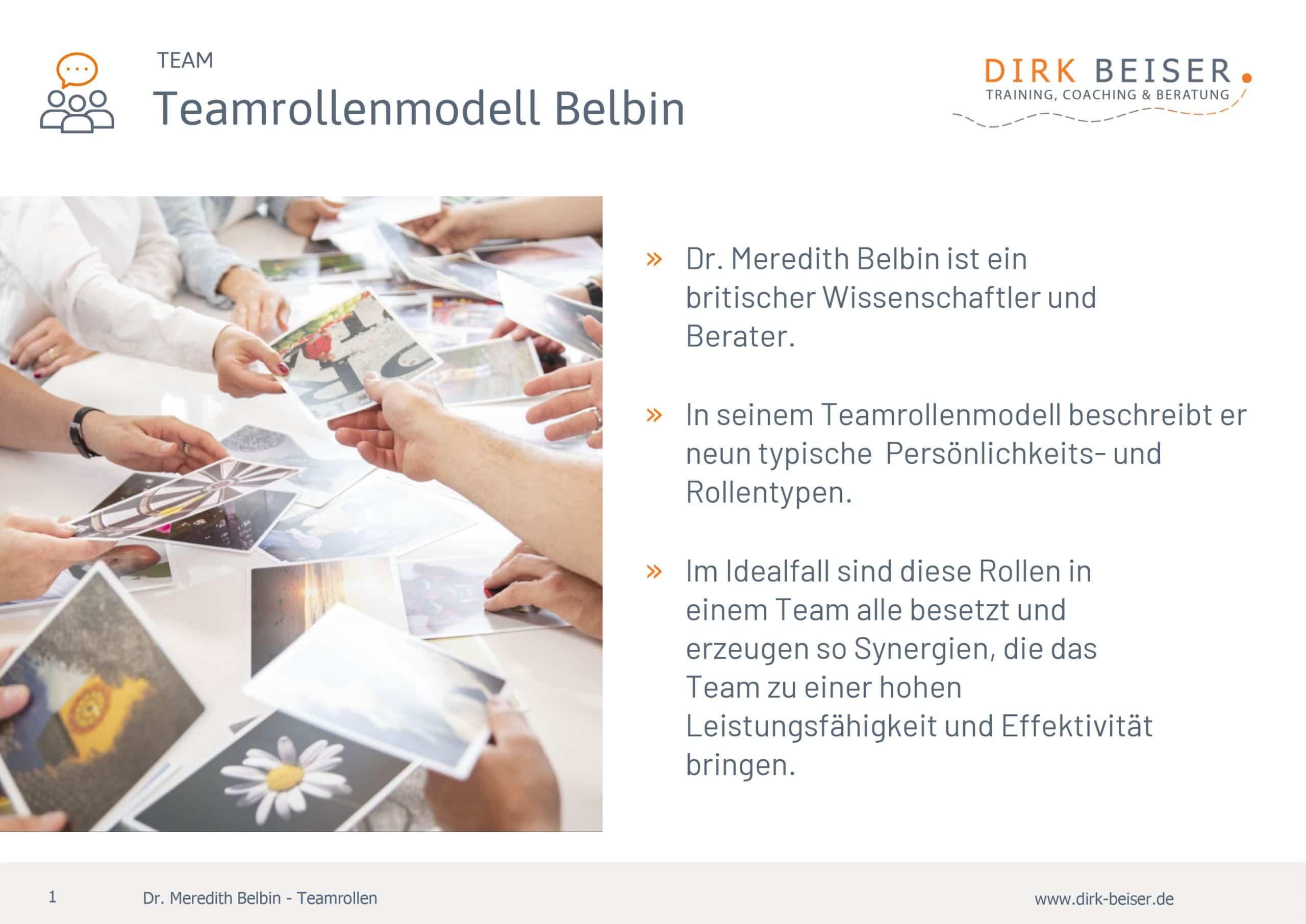 Teamrollen nach Belbin für Teambuilding