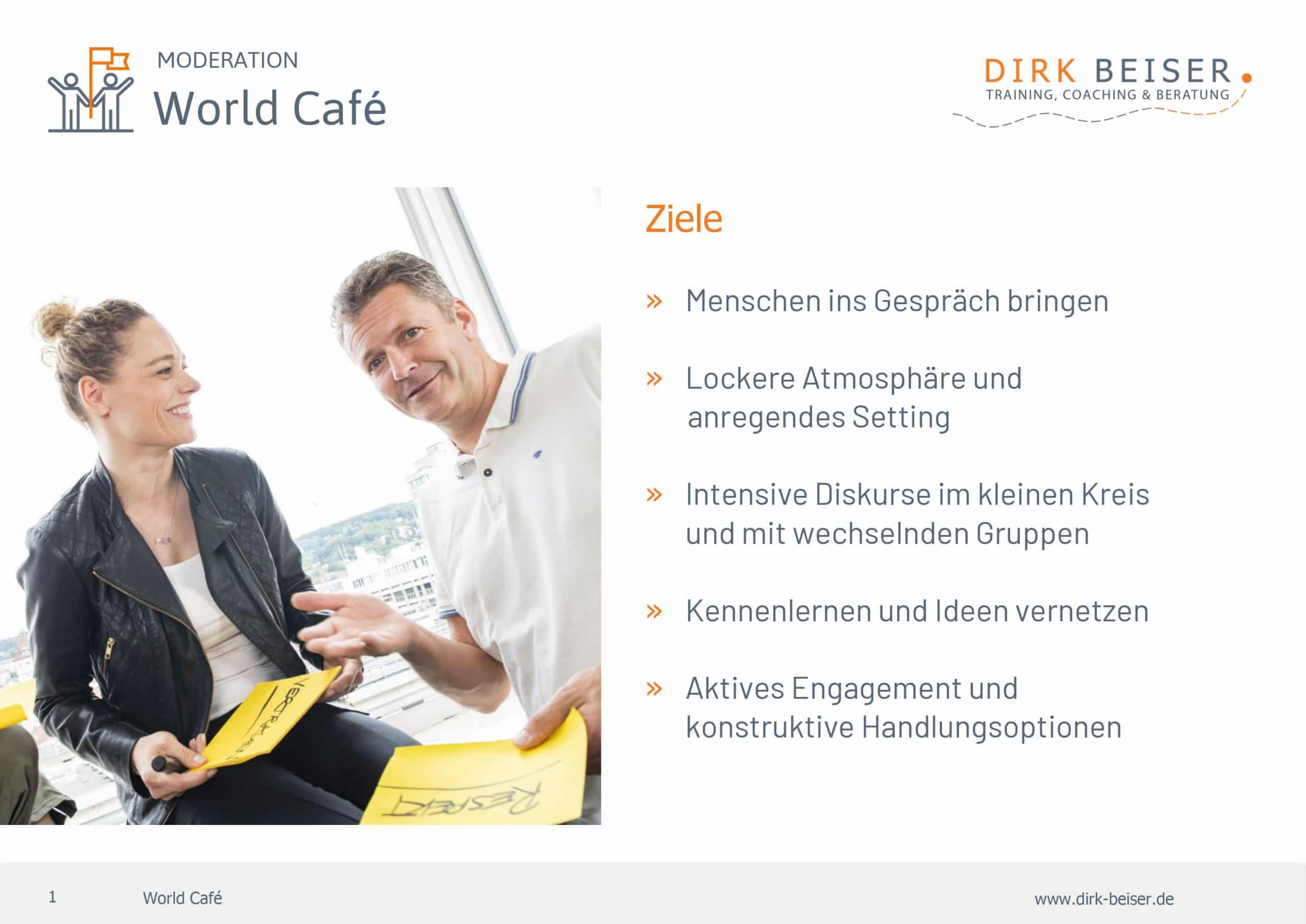 World Cafe Moderation Großgruppen