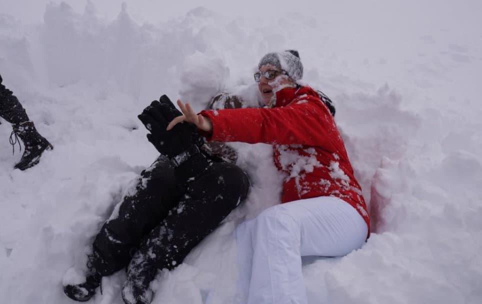 Fun beim Teambuilding im Schnee
