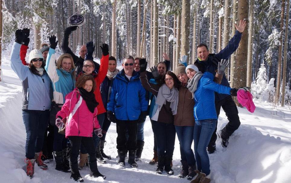 Ein erfolgreicher Teamworkshop outoor im Winter